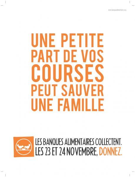 Affiche collecte Banques Alimentaires 2012